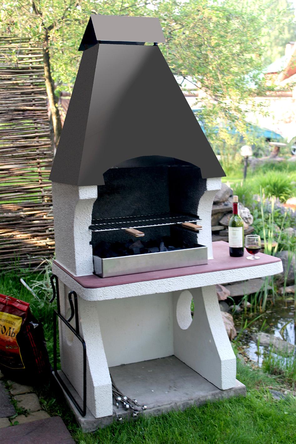 гриль-барбекю в аксоне