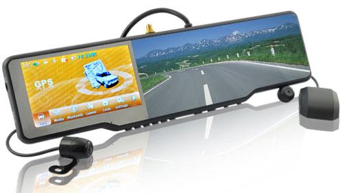 Штатное зеркало заднего вида с видеорегистратором и навигатором авторегистратор 4 канальный saf 04ch4a